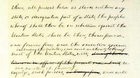 The only handwritten draft of Abraham Lincoln's Emancipation