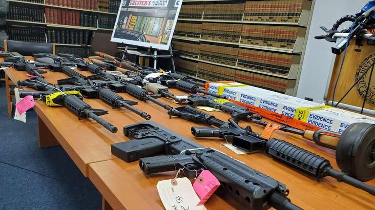 Illegal-Gun Sales Bust:  Ronkonkoma sporting goods store owner charged with illegal weapons sales