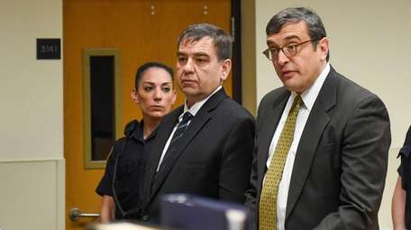Chester Pergan, left, and his attorney Anthony LaPinta