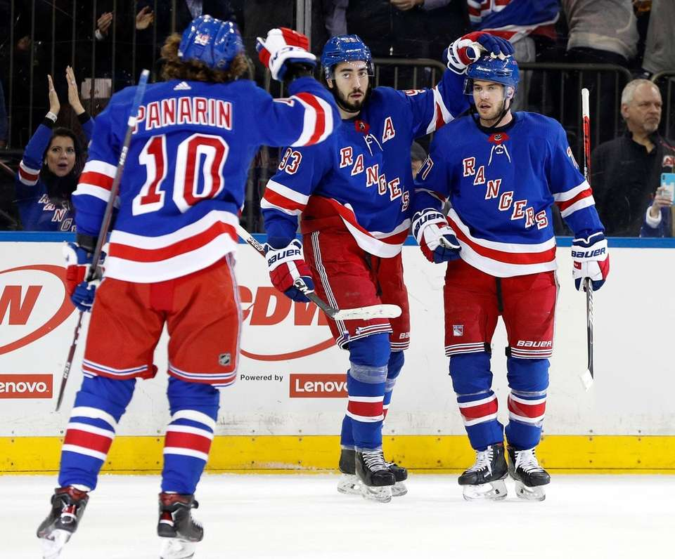 Tony DeAngelo #77 of the New York Rangers