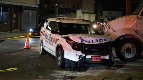 A Nassau County police SUV was involved in