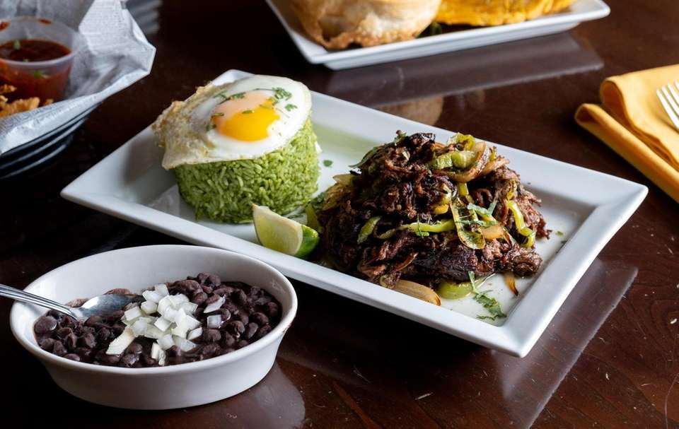Vaca frita-- crispy, powerfully flavored shredded beef with