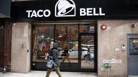 A Taco Bell in Brooklyn on April 10,