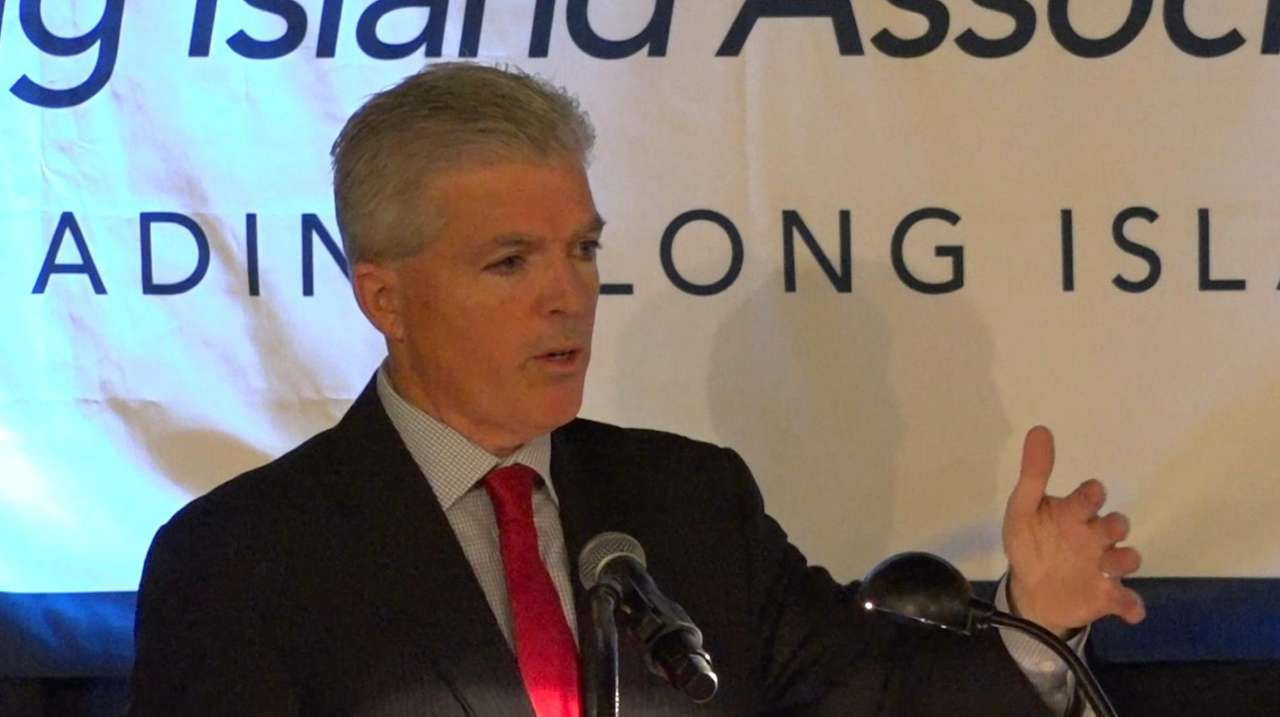 Suffolk County Executive Steve Bellone, speaking Friday at