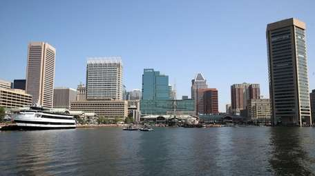 A view of Baltimore Inner Harbor.