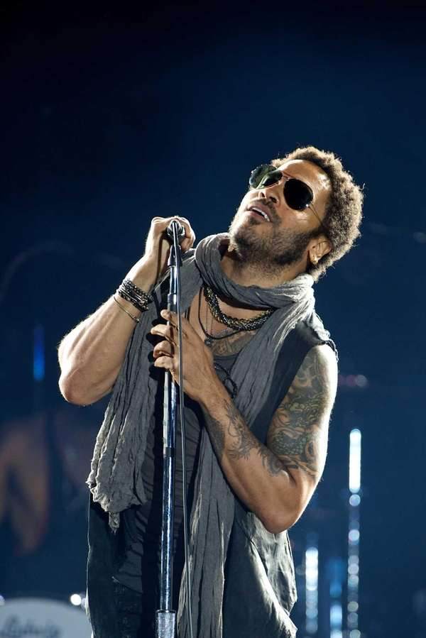 Lenny Kravitz performs on stage during Rock in