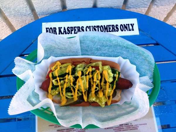 "The ""Chicago"" dog at The Original Kasper's in"