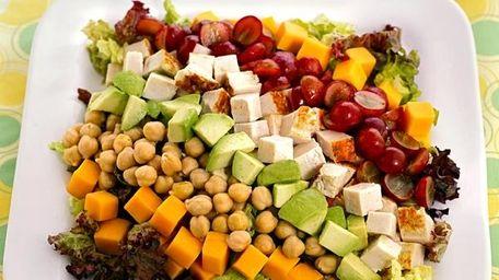 A kid-friendly cobb salad from