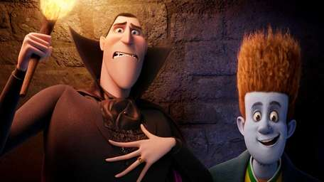 Dracula, voiced by Adam Sandler, and Johnnystein, voiced