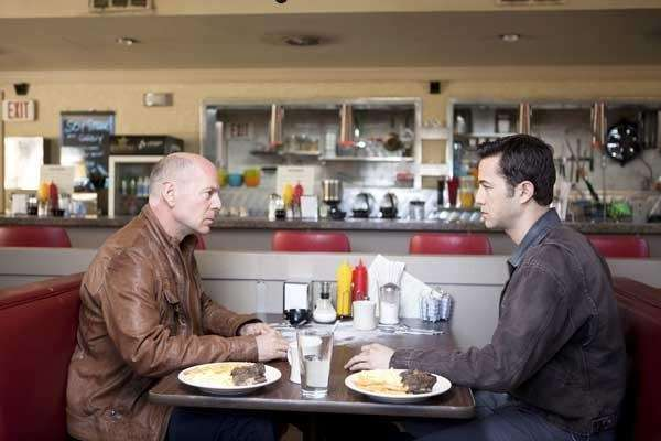 Bruce Willis and Joseph Gordon-Levitt in quot;Looper.quot;