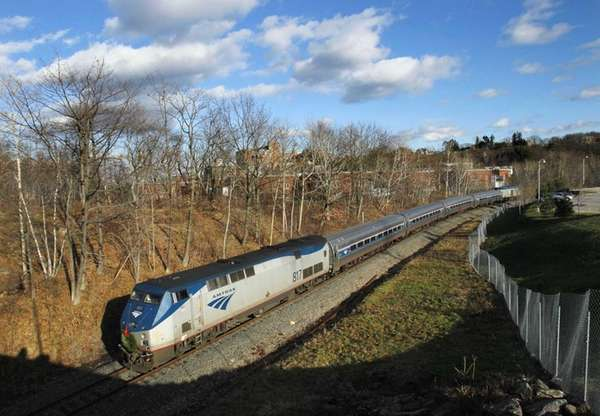 The Amtrak Downeaster travels through Portland, Maine.