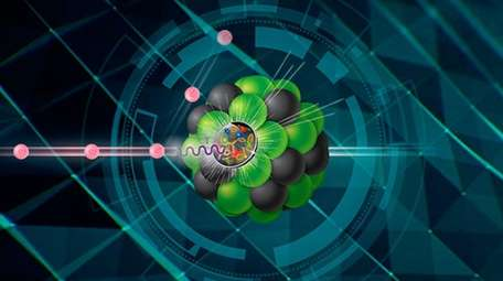 Electrons will collide with protons or larger atomic