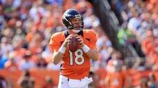 Peyton Manning #18 of the Denver Broncos