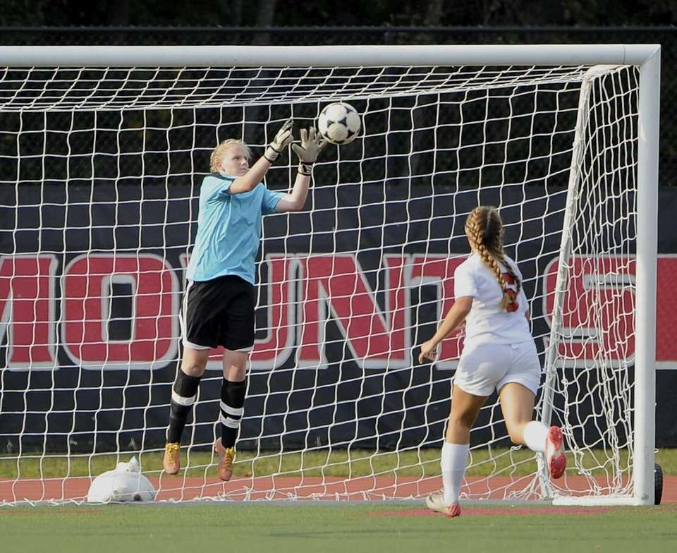 Babylon goalkeeper Hannah McGlinchey makes a save on