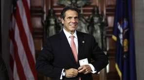 New York Gov. Andrew M. Cuomo after a
