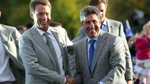 Ryder Cup captains Jose Maria Olazabal and Davis