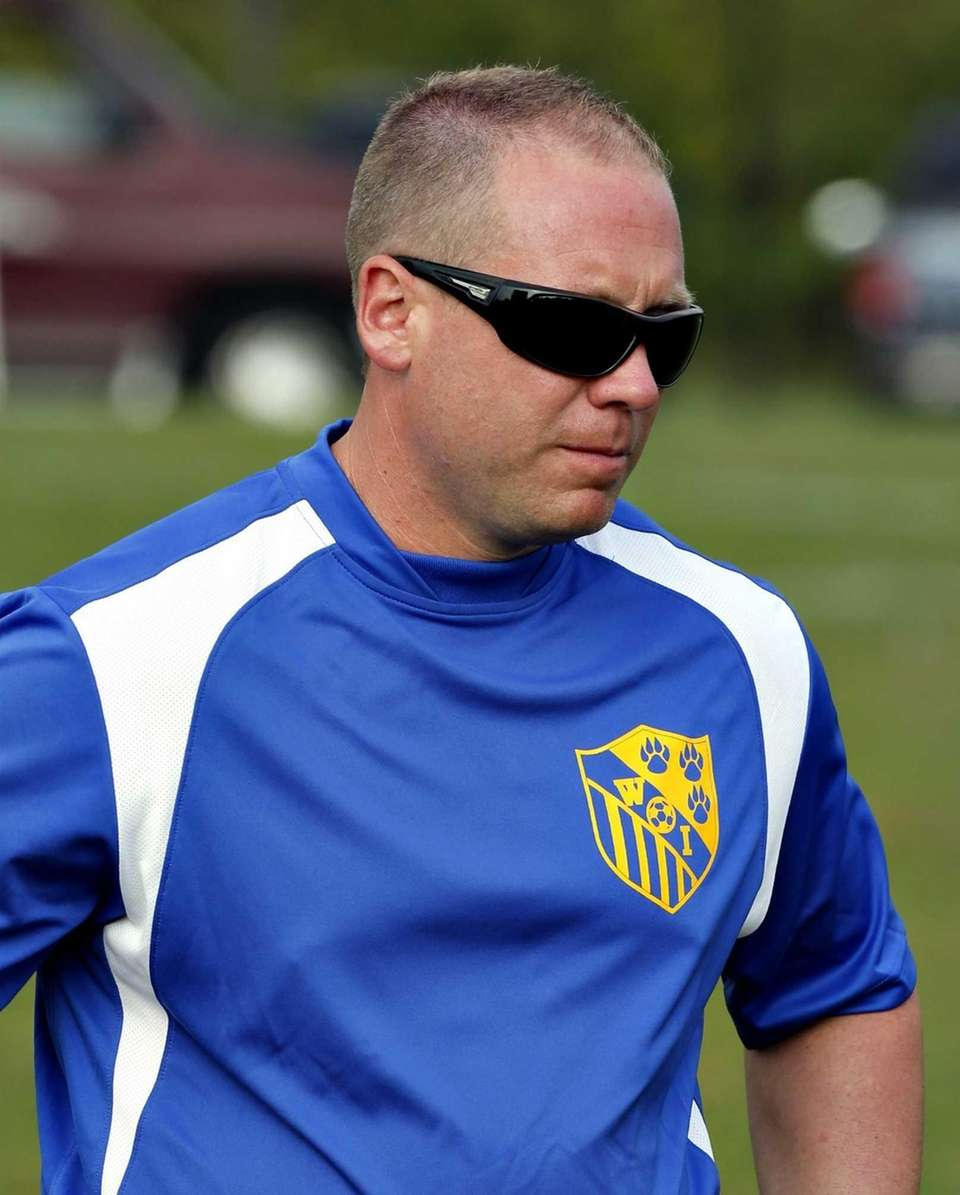 West Islip boys soccer head coach Eddie Pieron