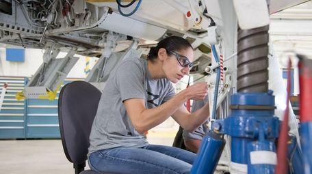 NASA astronaut candidate Jasmin Moghbeli during T-38 engine