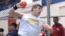 Nicholas Pisciotta competes in the boys invitational shot