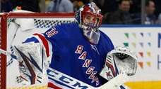 Igor Shesterkin of the New York Rangers makes