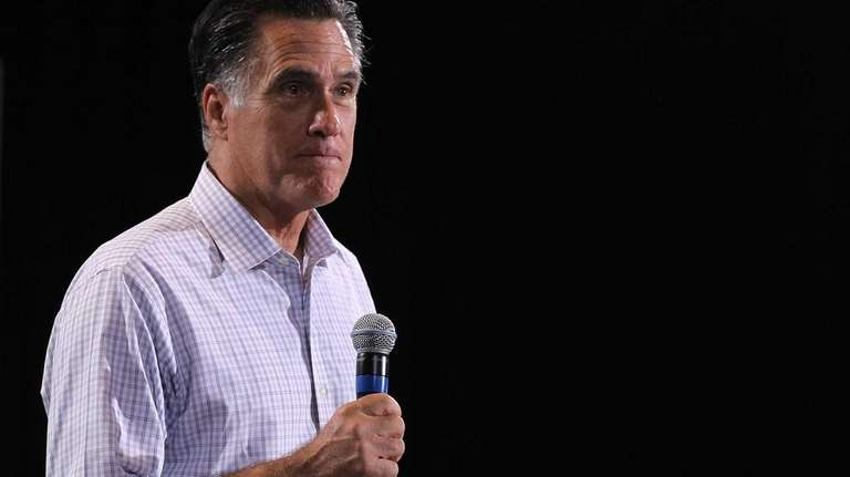Mitt Romney speaks during a campaign rally in