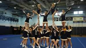Northport Coed Team at Suffolk cheerleading competition at
