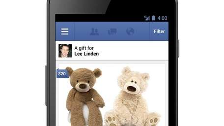 Facebook Gifts launched Thursday, Sept. 27, 2012, to
