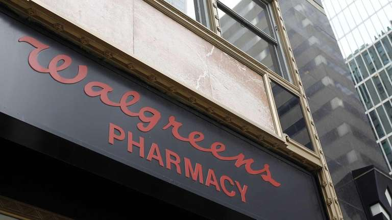 A Walgreens pharmacy sign is displayed in Philadelphia.