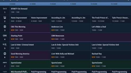 The TV Guide app, seen in an undated