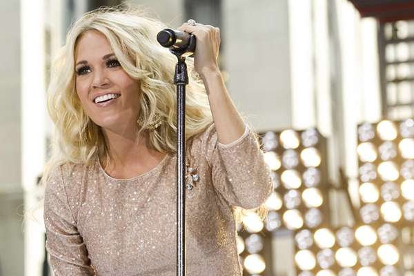 "Carrie Underwood performs on NBC's ""Today"" show in"