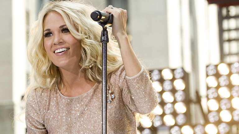 Carrie Underwood performs on NBC's