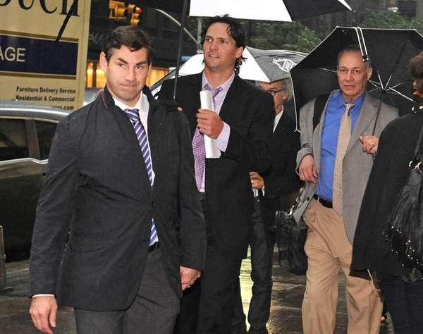 Matthew Schneider, left, special assistant to NHL Players