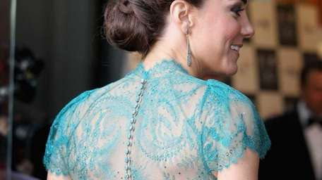 Catherine, Duchess of Cambridge, sports a braided up-do