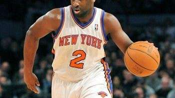 Raymond Felton drives the ball down court during