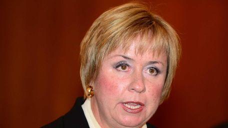 Hempstead Town Supervisor Kate Murray speaks at a