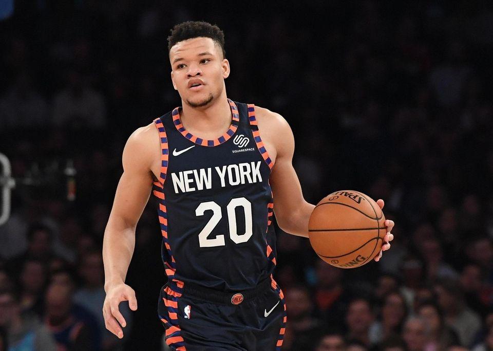 New York Knicks forward Kevin Knox II controls