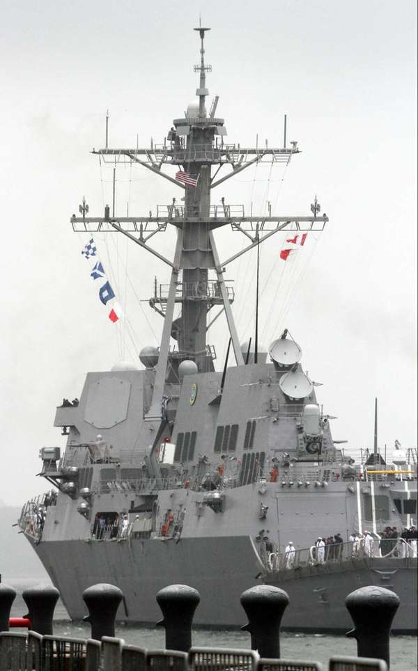 The 9,200-ton guided missile destroyer, USS Michael Murphy,