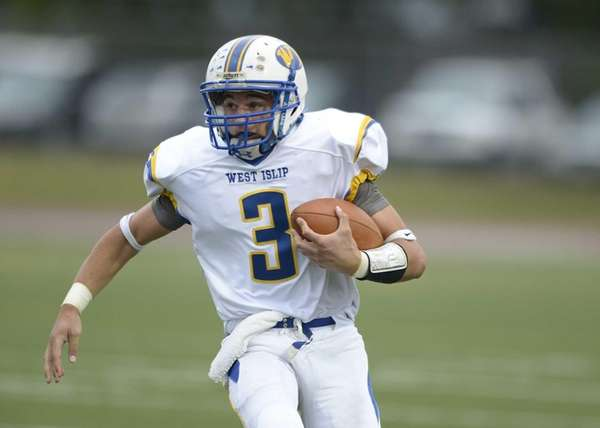 West Islip's Sam Ilario breaks into the clear