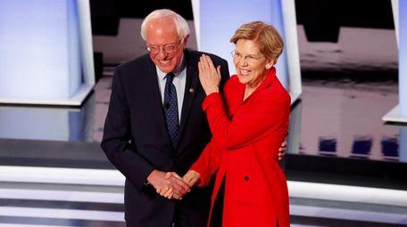 Sens. Bernie Sanders and Elizabeth Warren at the