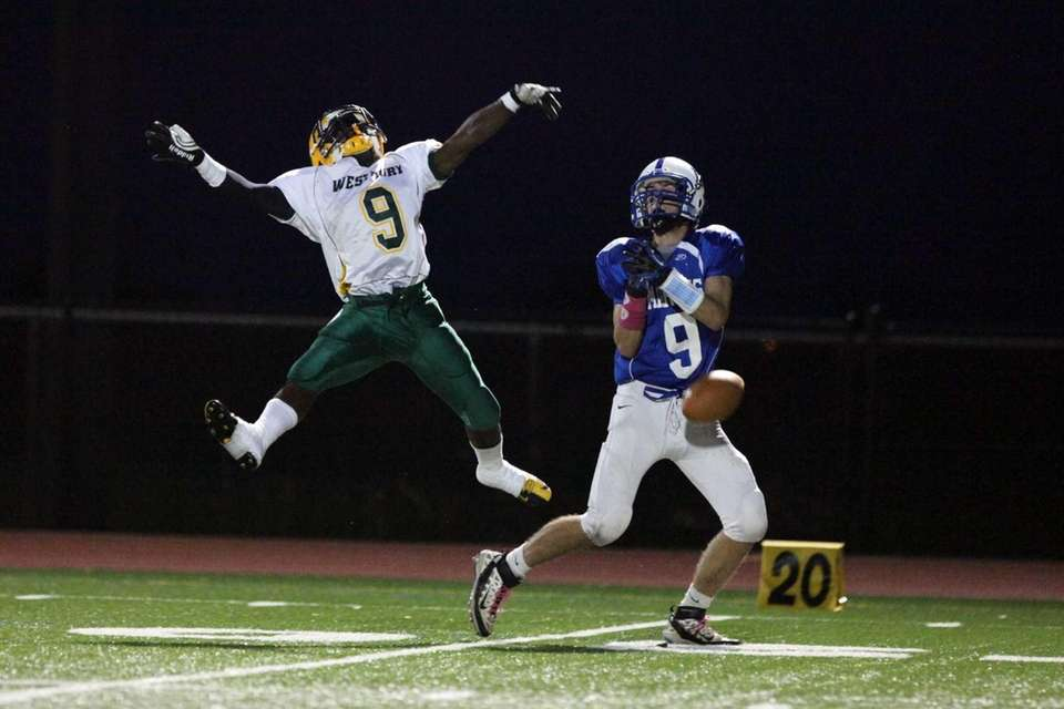 A pass intended for Long Beach's Jake Brown,