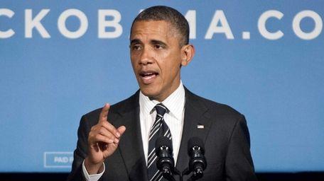 U.S. President Barack Obama speaks during a fundraiser