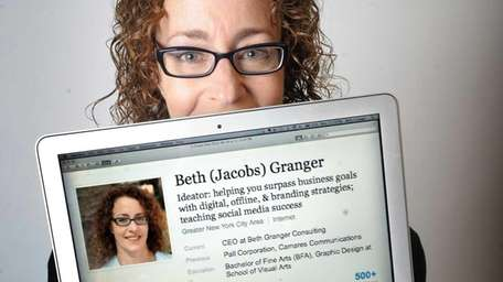 Beth Granger, a social media consultant in Port