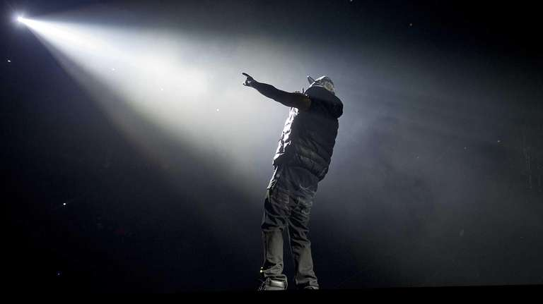 Rapper Jay-Z performs the inaugural concert at the