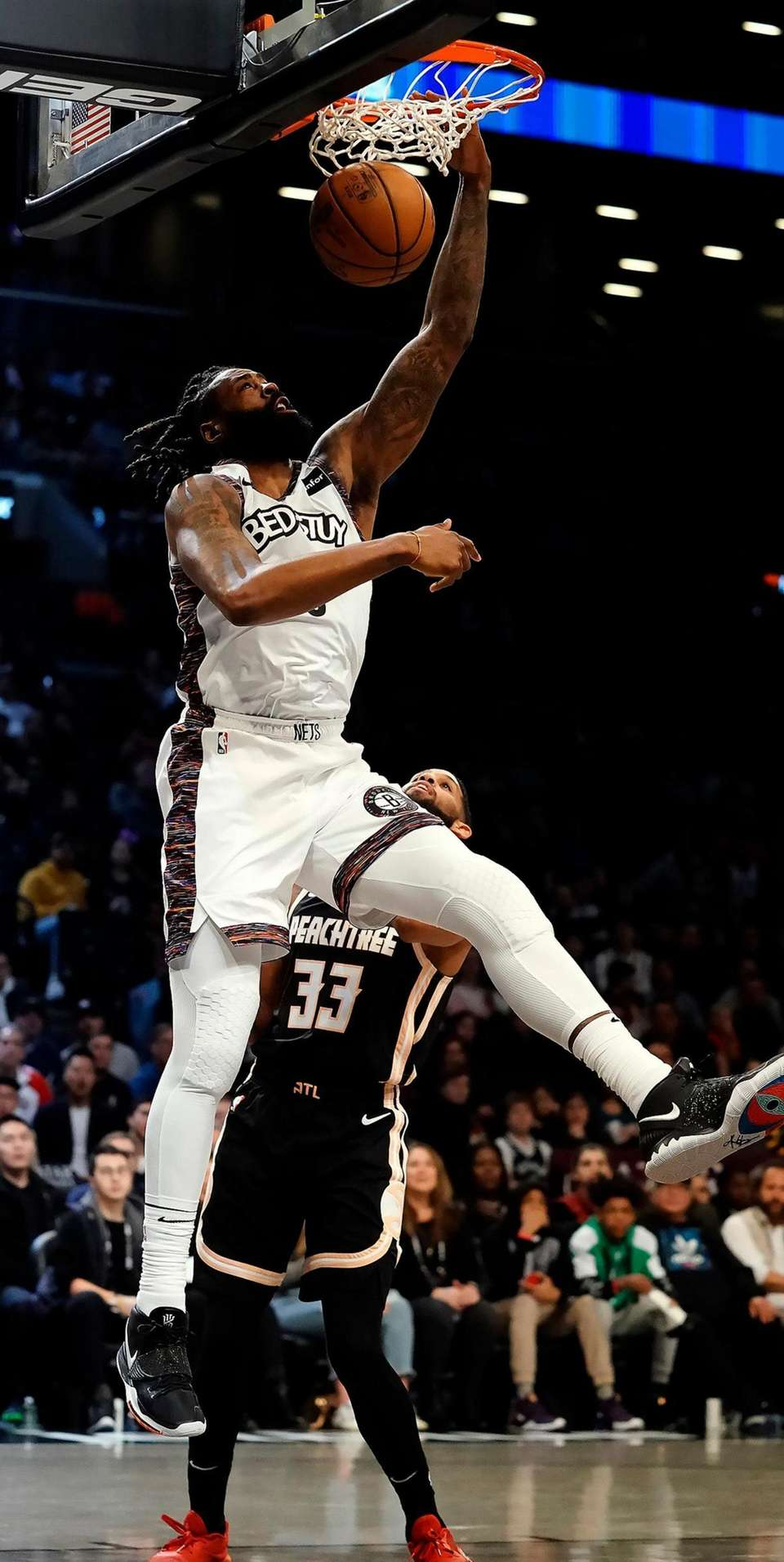 Brooklyn Nets center DeAndre Jordan (6) with the