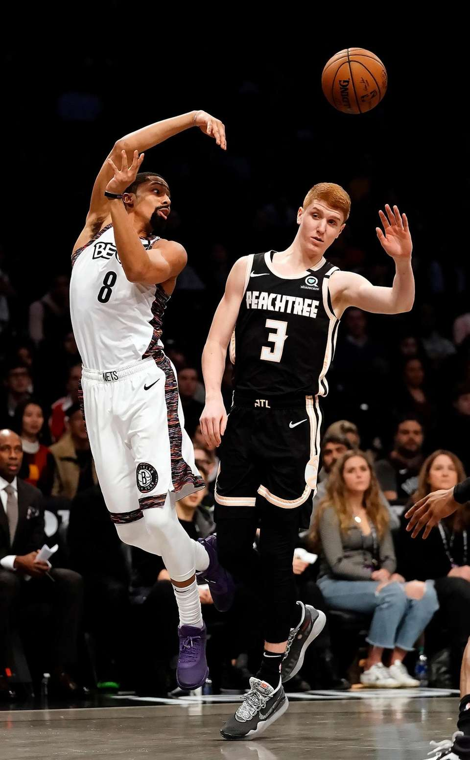 Brooklyn Nets guard Spencer Dinwiddie (8) with the