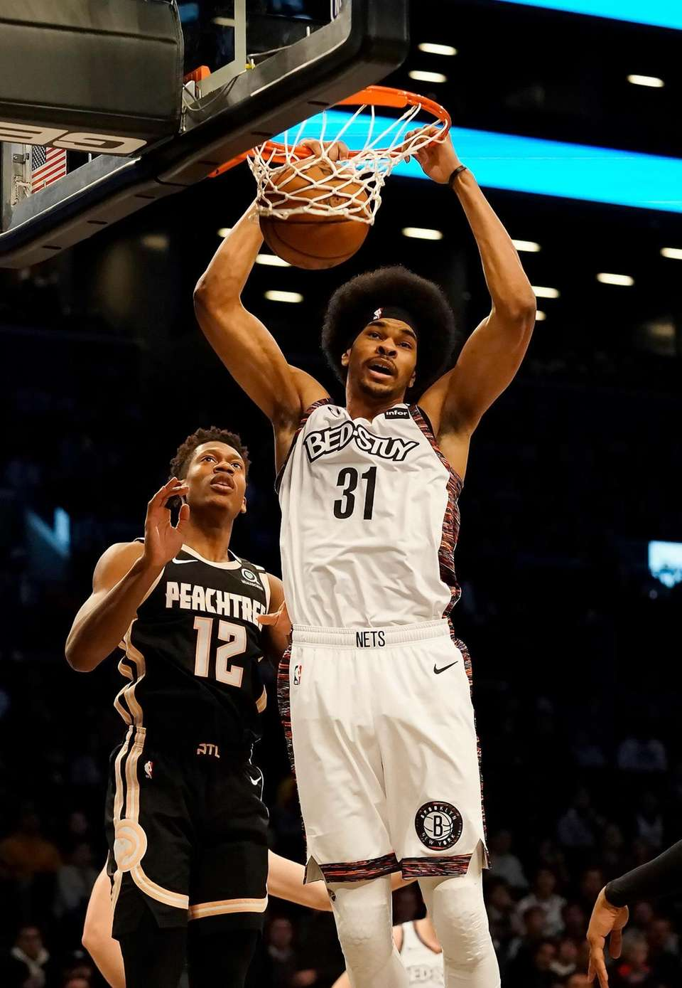Brooklyn Nets center Jarrett Allen (31) with the