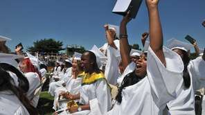 Members of the Brentwood Class of 2012 celebrate