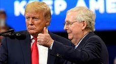 President Donald Trump with Senate Majority Leader Mitch