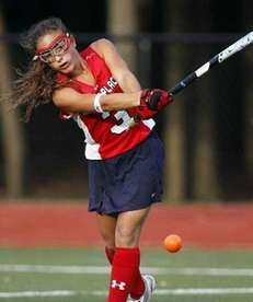 Miller Place midfielder Heather Ercolano moves the ball