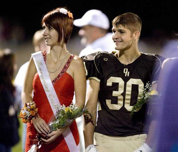 Sophomore homecoming representatives Whitney Kropp and Josh Awrey